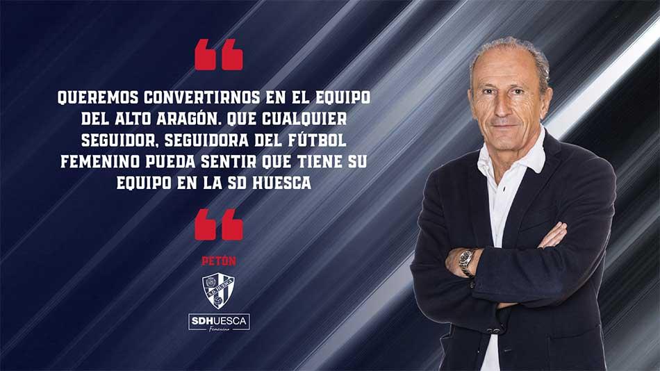 Petón fútbol femenino provincia de Huesca