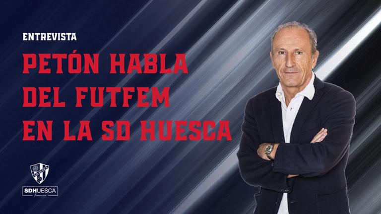Petón habla de fútbol femenino SD Huesca