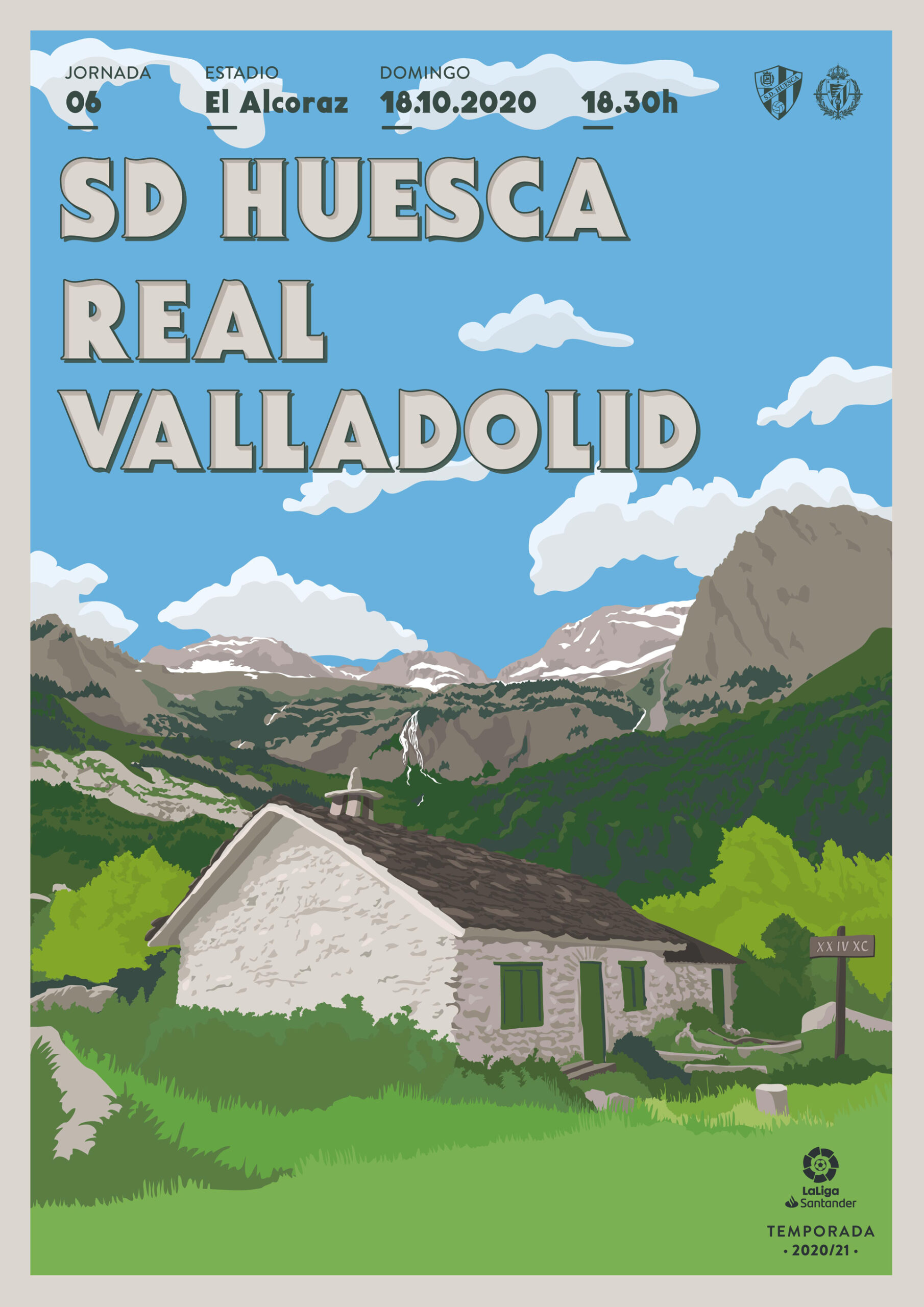 Cartel SD Huesca vs Real Valladolid CF