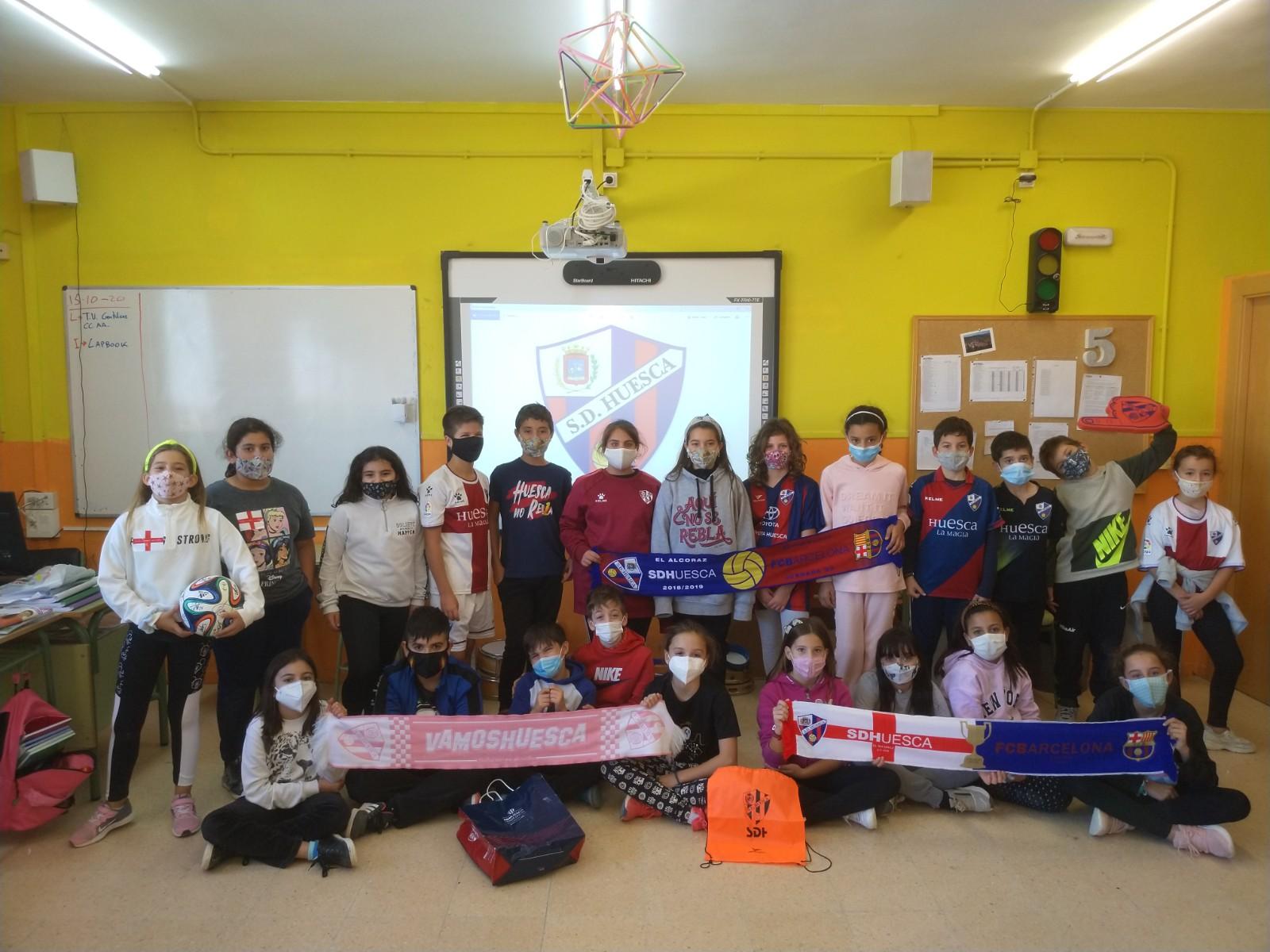 Aprender geografía o matemáticas con la SD Huesca