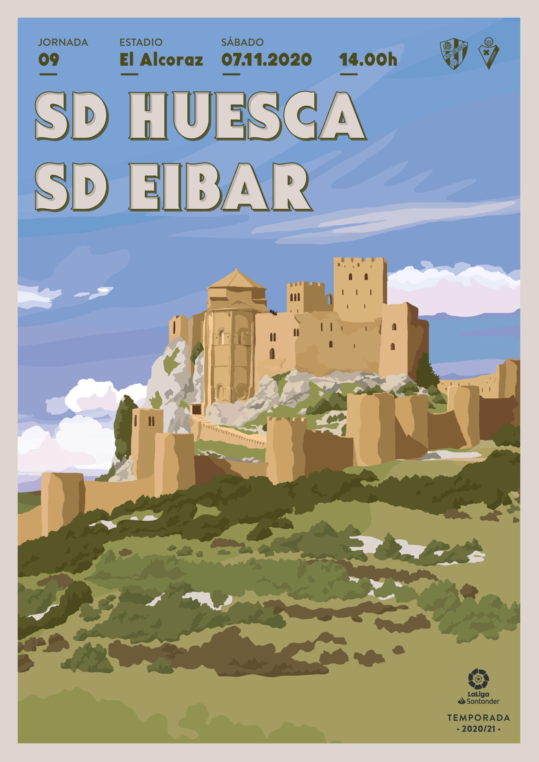 Cartel SD Huesca vs SD Eibar
