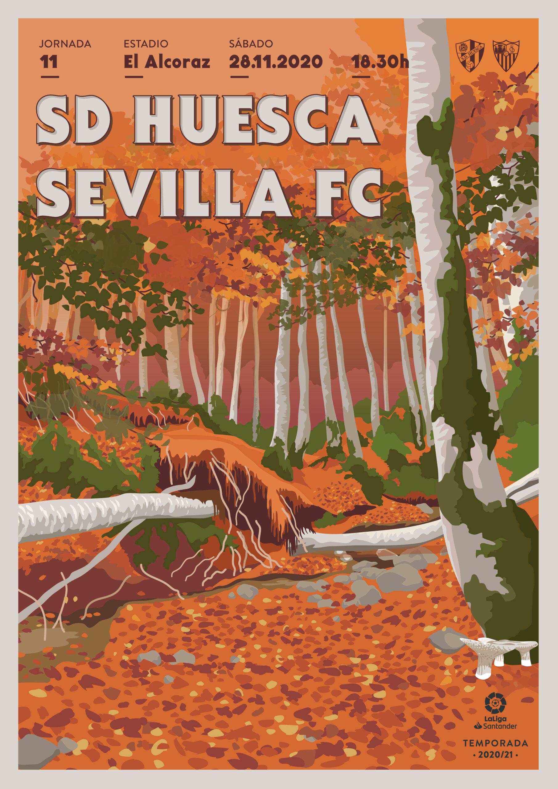 Cartel SD Huesca vs Sevilla CF