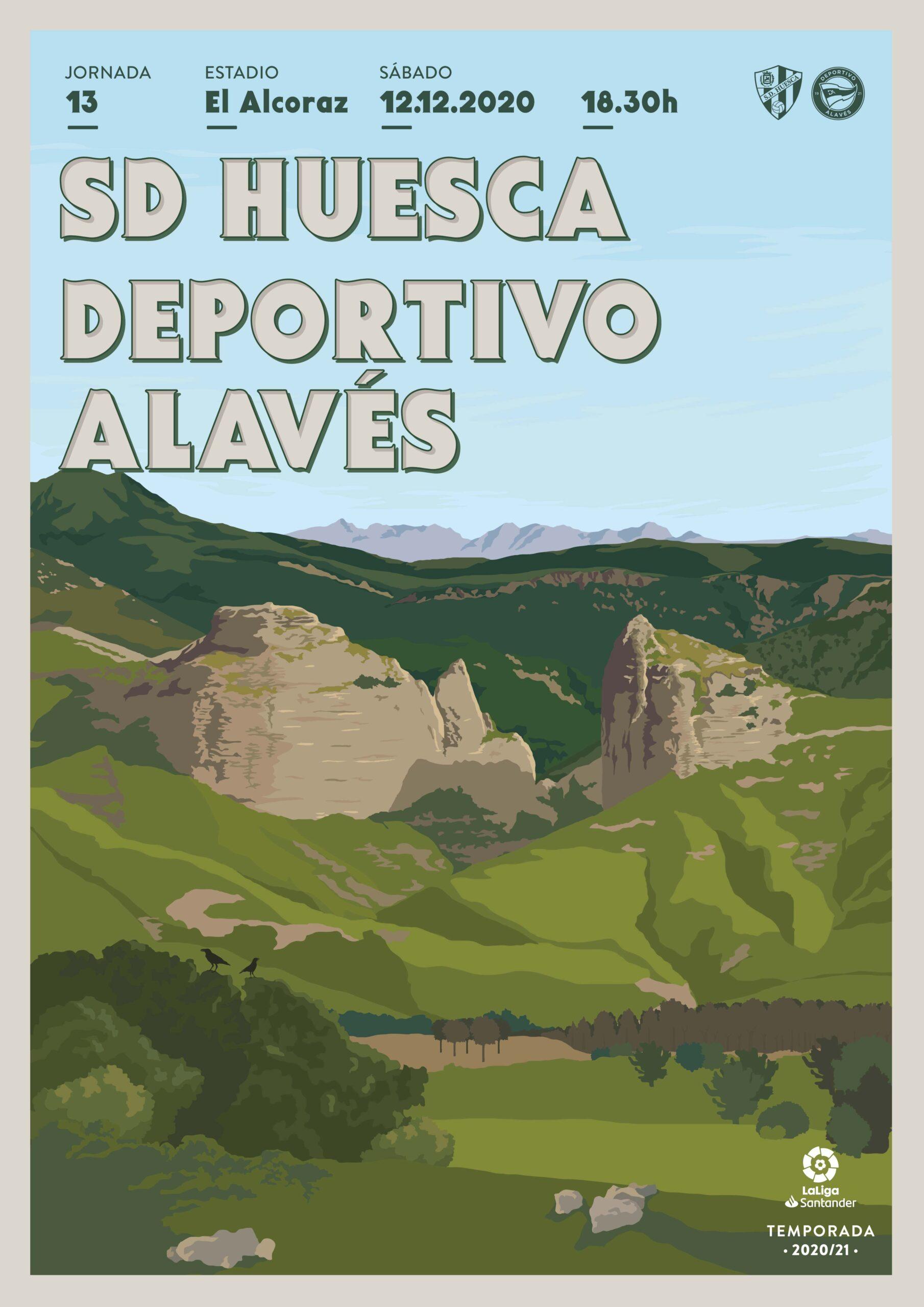 Cartel SD Huesca vs Deportivo Alavés