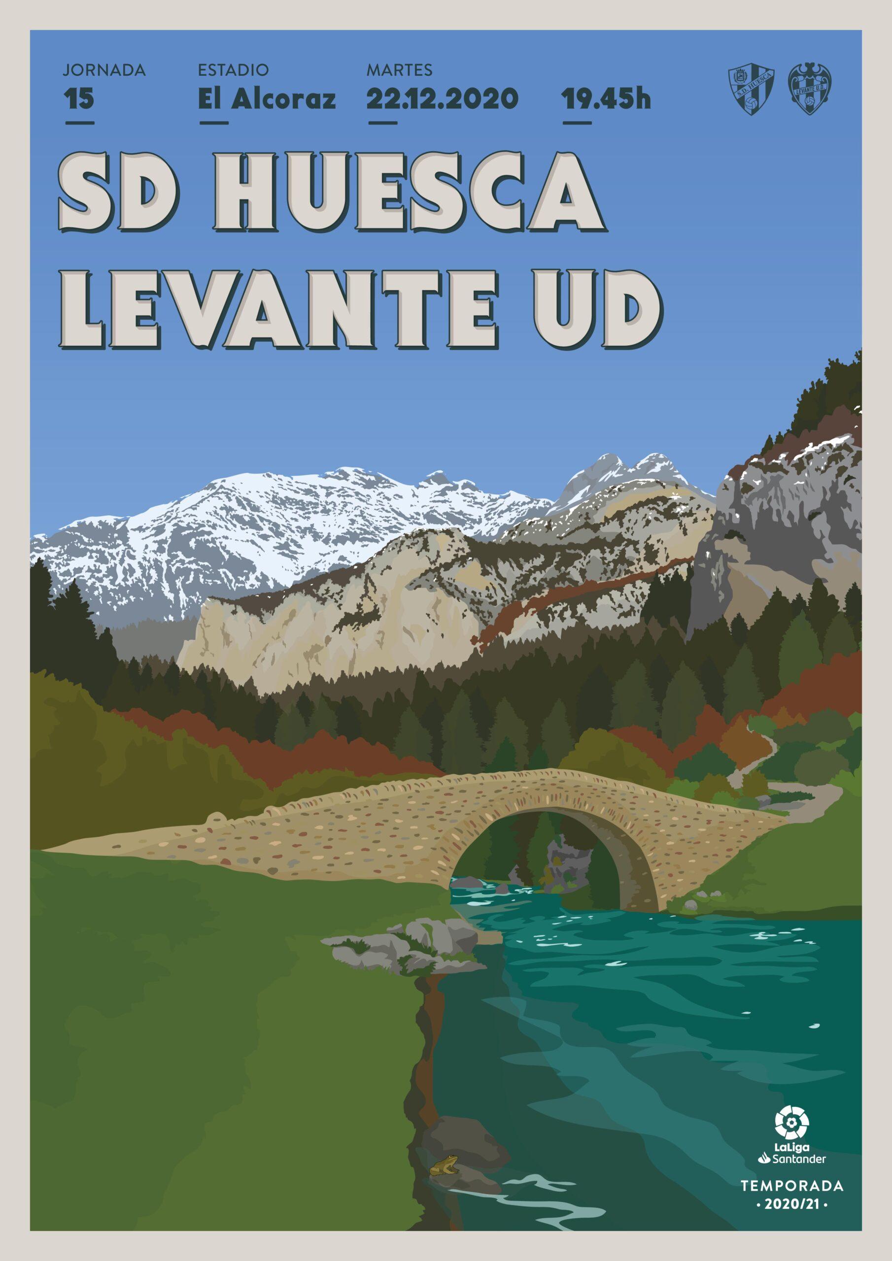 Cartel SD Huesca vs Levante UD