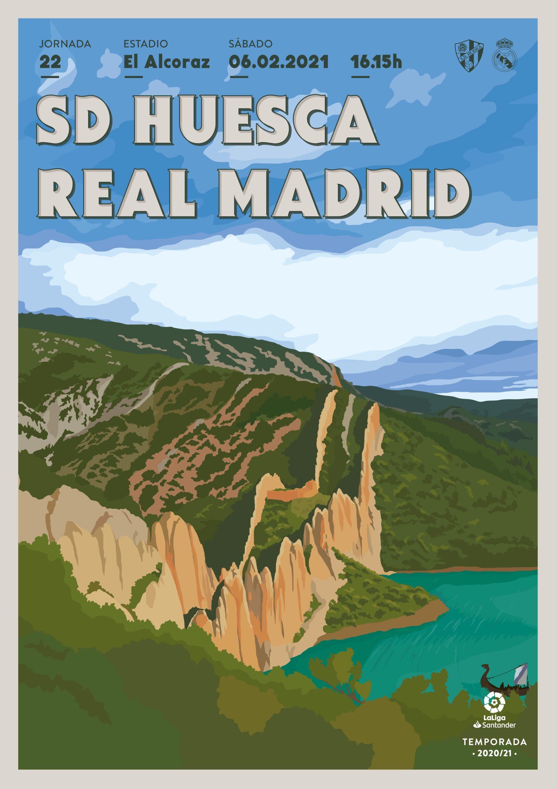 Cartel SD Huesca vs Real Madrid CF