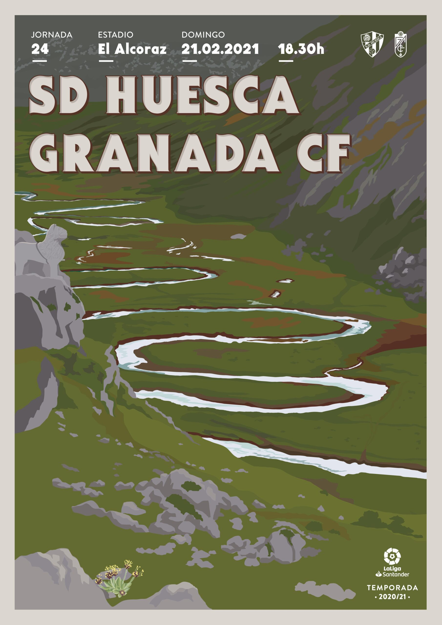 Cartel SD Huesca vs Granada CF