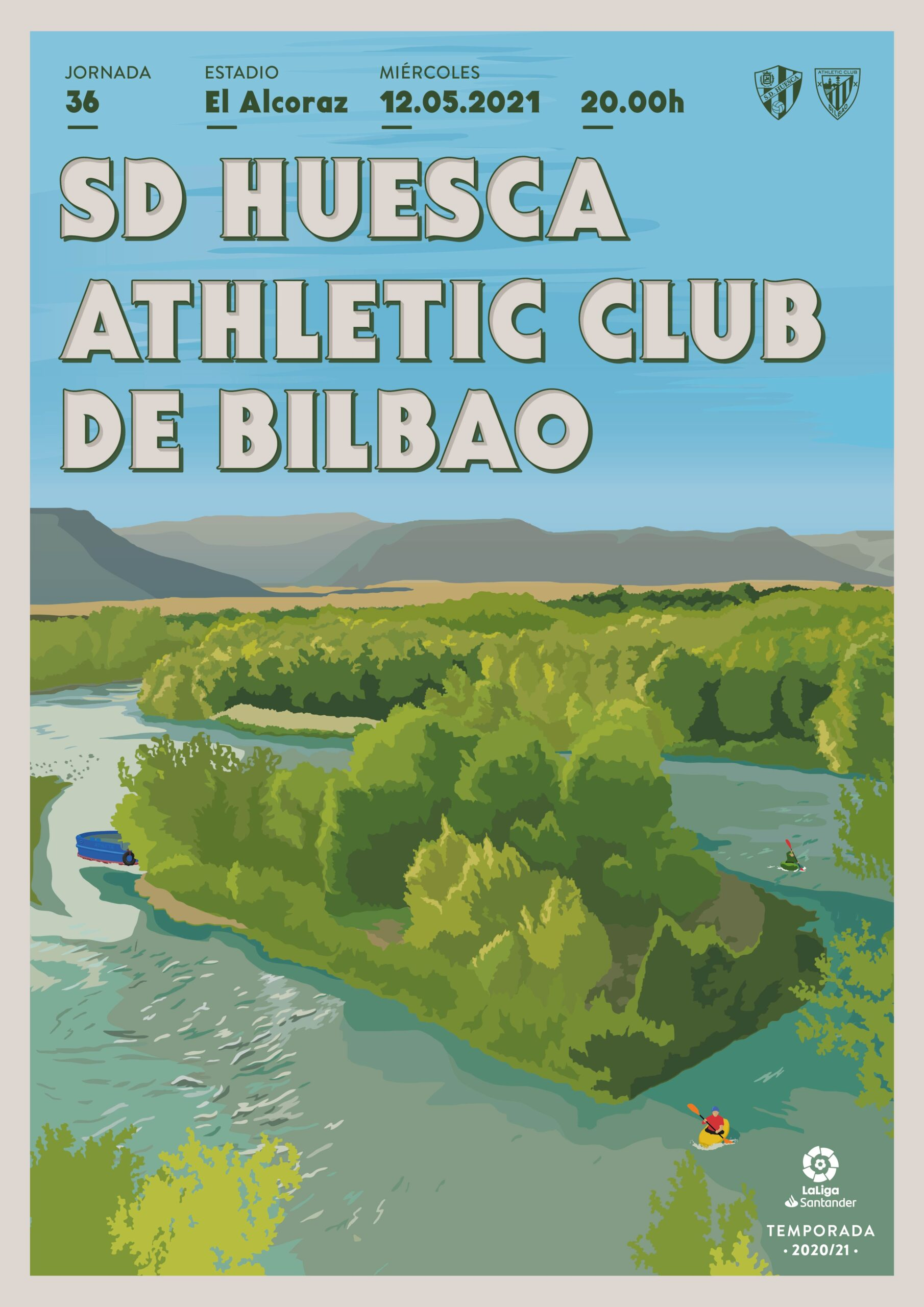 Cartel SD Huesca vs Athletic Club de Bilbao