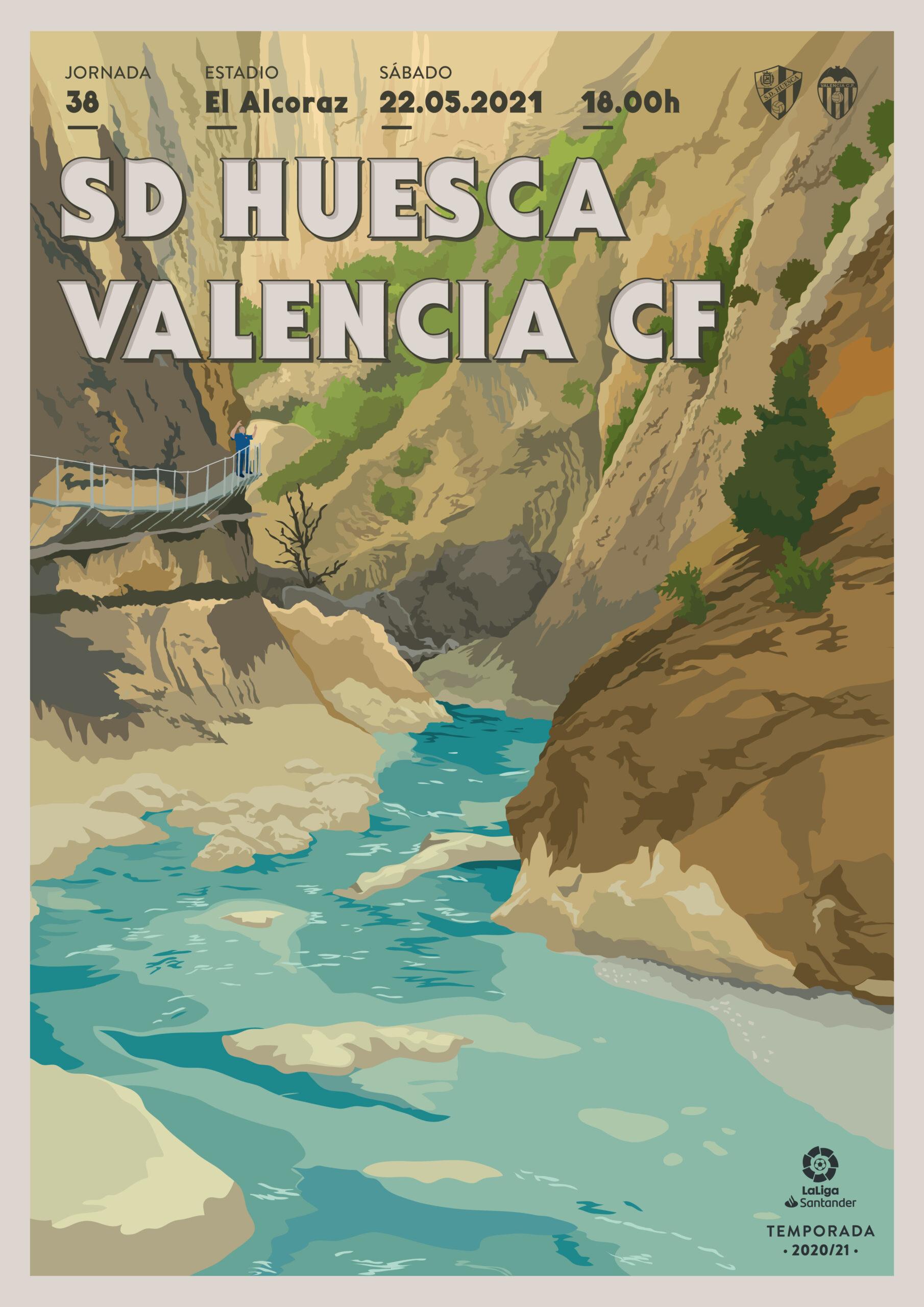 Cartel SD Huesca vs Valencia CF